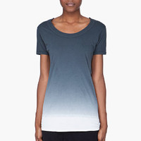 Silent By Damir Doma Petrol Dip Dyed T-shirt for Women | SSENSE