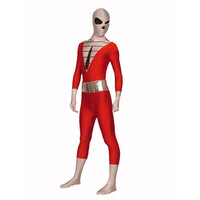 Full Body Red and White Lycra Spandex Back Zipper Unisex Zentai Suit [TWL111228011] - 24.19 : Zentai, Sexy Lingerie, Zentai Suit, Chemise