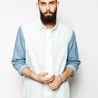ASOS Shirt In Long Sleeve With Cut And Sew Panel