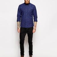 ASOS Shirt In Long Sleeve With Heavyweight Nep