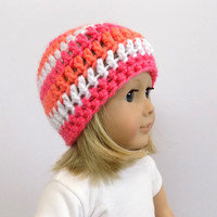 Doll Accessories, 18 Inch Doll Hat, Knit Doll Clothes