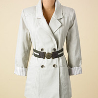 Leanna Contrast Belted Trench - Long Coats - COATS - Jessica Simpson Collection