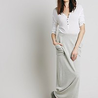 Free People Womens Travel Skirt - Light Grey
