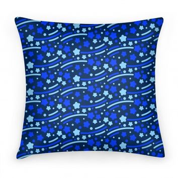 Blue Shooting Stars Pattern