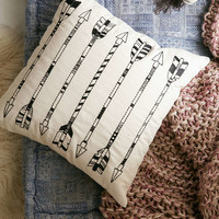 4040 Locust Embroidered Arrow Pillow - Urban Outfitters
