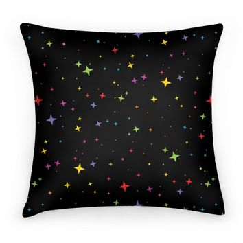 Rainbow Twinkling Star Sparkles Pattern