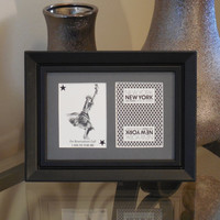 New York New York Las Vegas 5x7 Reservation Authentic Playing Card Display Matted FRAMED NF1024
