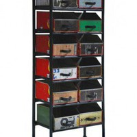 Eisen 12 Drawer Tall Rack-Retro