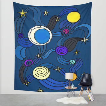 The Celestial Environment Wall Tapestry by DuckyB (Brandi)