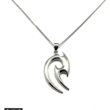 Stainless Steel Tribal Pendant w/ Necklace