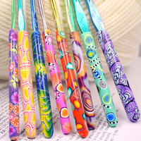 Polymer clay crochet hook set of 8, New Boye brand, Sizes D/3 through K/10.5