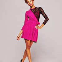 Tessa Lace Jersey Dress
