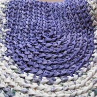 Braided Crochet Purple Rag Rug