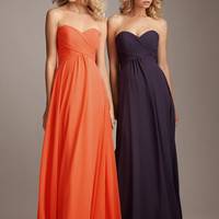2012 Allure Bridesmaid - Pleated Chiffon Strapless Sweetheart Bridesmaid Dress - 2 to 28 - Unique Vintage - Homecoming Dresses, Pinup &amp; Prom Dresses.