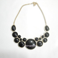 Ships Now:  J Crew Necklace, Bubble Necklace, Bib Necklace, Statement Necklace, Chunky , Black , Geometric, Necklace