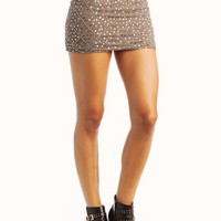 beaded-mini-skirt DKTAUPE - GoJane.com