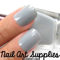 Grey Days - Light Grey Nail Polish Lacquer 16ml from nailartsupplies