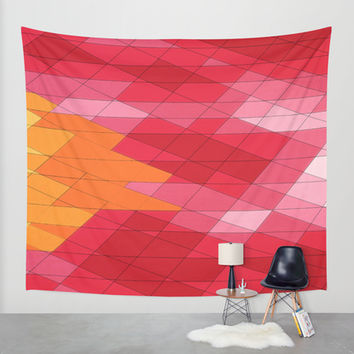 Rosey Abstract Wall Tapestry by DuckyB (Brandi)