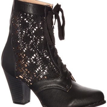 Victorian Lace Ankle Boots
