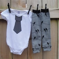 Dapper Little Man2 piece pinstripe by mamarunswithscissors on Etsy