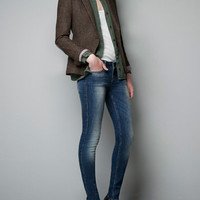 PARTRIDGE-EYE BLAZER WITH ELBOW PATCHES - Woman - New this week - ZARA United States