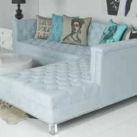 www.roomservicestore.com - Hollywood Sectional - Ice Blue UltraSuede