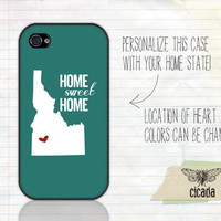 Unique iPhone Case - Home Sweet Home State Love iPhone 4 Case, iPhone 4s Case, Cases for iPhone 4, iPhone Cover (0089)