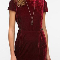 Sparkle & Fade Velvet Puff Sleeve Dress