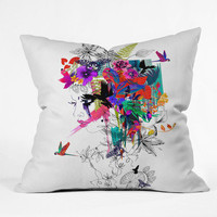 DENY Designs Home Accessories | Holly Sharpe Tropical Girl 1 Throw Pillow