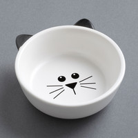 ModCloth Quirky Mew Plate Special Pet Bowl