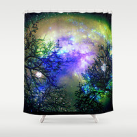 Stars Through The Trees Shower Curtain by Minx267