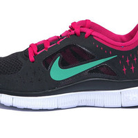 Nike Wmns Free Run 3 Black Green Womens Running Shoes 510643-036
