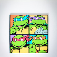 TMNT Warhol Canvas Wall Art in Home & Dorm New