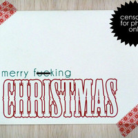 Funny Christmas Card Set of 12 Mature Merry Christmas