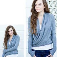 Dimgray Wrap Cardigan [3262] - $31.00 : Vintage Inspired Clothing & Affordable Fall Frocks, deloom | Modern. Vintage. Crafted.