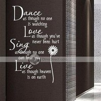 Matter Beautiful Home Decor English quote Removable Wall Sticker Wall Decal - DinoDirect.com