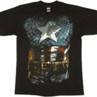 Marvel Comics Captain America Suit Costume T-Shirt by Stylin Online - Teenormous.com