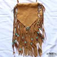 Boho Hippie Fringe Purse