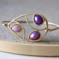 Purple bangle - custom size - limited offer