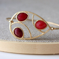 Red bangle - custom size - limited offer