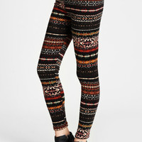 Nomad Season Printed Sweater Leggings - $27.00: ThreadSence, Women's Indie & Bohemian Clothing, Dresses, & Accessories