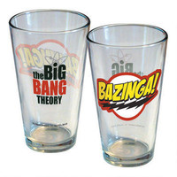 The Big Bang Theory Bazinga! Logo Pint Glass |