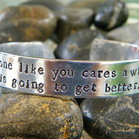 Dr. Seuss quote bracelet - Unless...