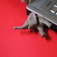 Baby Elephant USB Flash Drive by hemingwayfun on Etsy