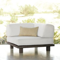 Tillary Outdoor Ottoman + Corner Back Cushion