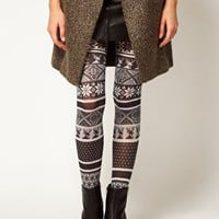 ASOS Opaque Fairisle Tights at asos.com