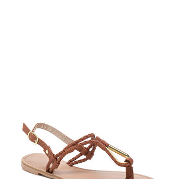 Tear It Up Braided Sandals