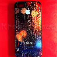 Iphone 5 Case, New iPhone 5 case Rain Drop on apple logo iphone 5 Cover, iPhone 5 Cases, Case for iPhone 5