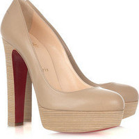 Christian Louboutin bibi 140 leather platform pumps - $215.00