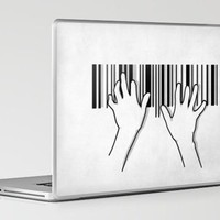 Barcode pianist Laptop & iPad Skin by Rodrigo Ferreira | Society6